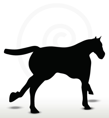 filly: Pferd Silhouette in Fahrposition