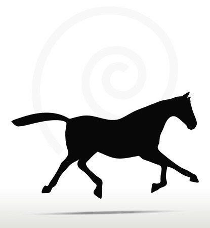 trot:  horse silhouette in Fast Trot position