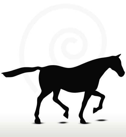 gelding: horse silhouette in Loping position
