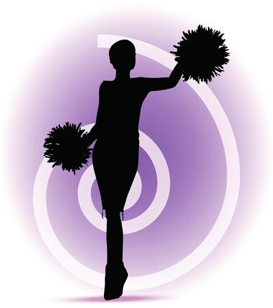 black cheerleader: funky cheerleader silhouette
