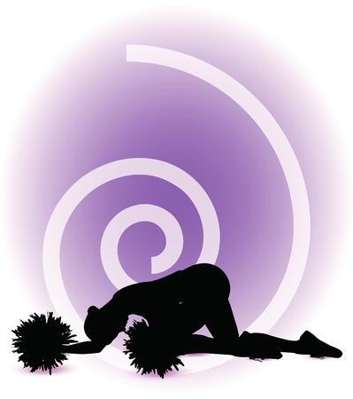 modish: funky cheerleader silhouette