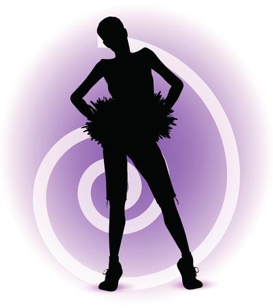 modish: EPS 10 Vector illustration - funky cheerleader silhouette