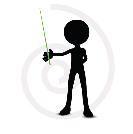 channelize: 3d man in pointing pose Illustration