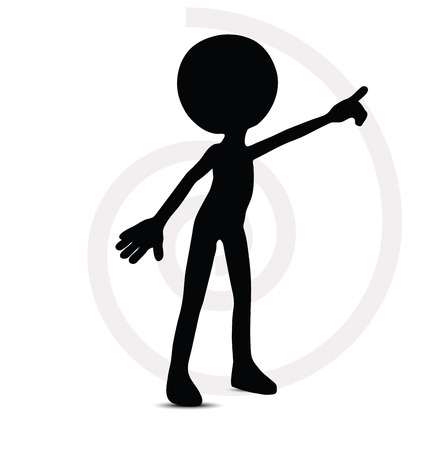 3d man in pointing pose Stock Vector - 29984217