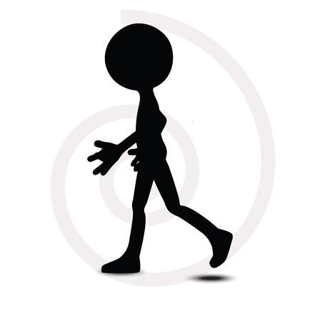 walking away:  3d man in walking pose
