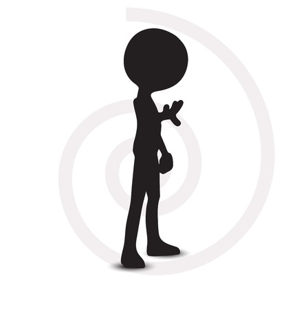 unrecognizable person:  3d man hand gesture stop, under control Illustration