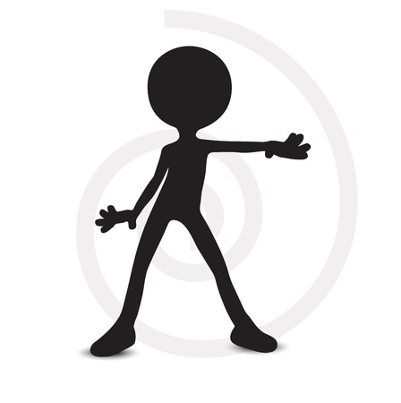 3d man with hands open Stock Vector - 29984955
