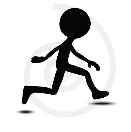 leapfrog: 3d hombre en el salto pose Vectores