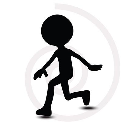 leapfrog: Hombre 3d en la actitud de saltar