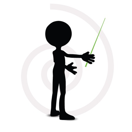 3d man in pointing pose Vector