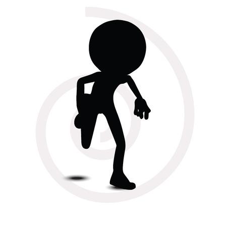 3d man in running pose Vector