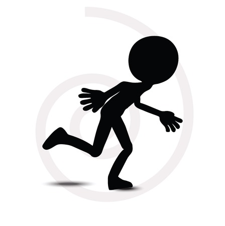 unrecognizable person: 3d man in running pose