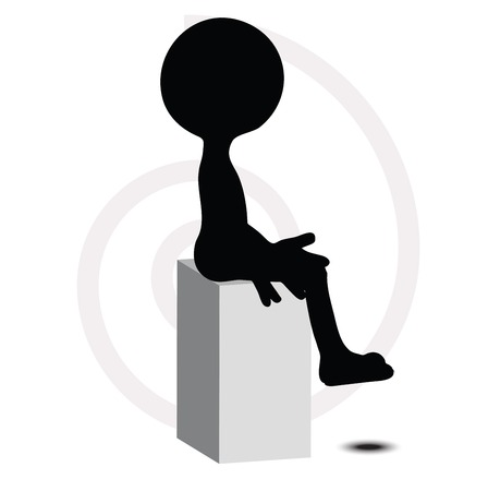 3d man in sitting pose Stock Vector - 29985128