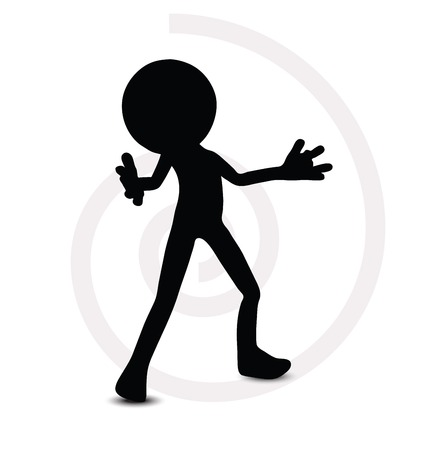 3d man in standing pose Stock Vector - 29985131