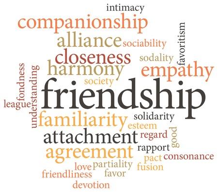 amabilidad: Ilustración de la palabra innovación en nubes de palabras aisladas sobre fondo blanco