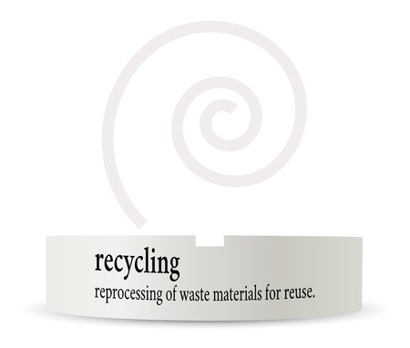 pronunciation: Vector Illustration - dictionary word of recycling on ashtray Illustration