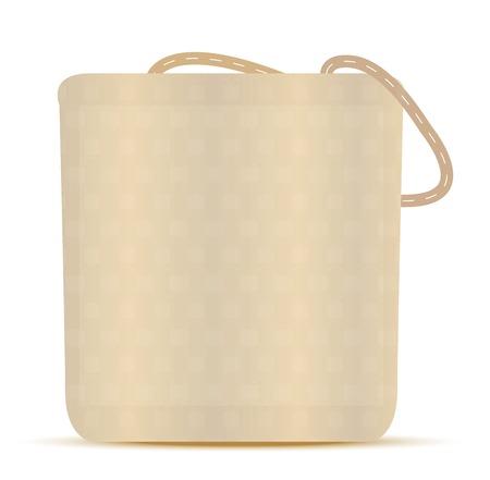 reusable:  Vector Illustration - Grocery Bag, Canvas Tote Reusable