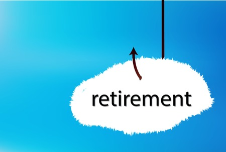 �back ground�: Vector Illustration - retirement text cloud on blue back ground Illustration