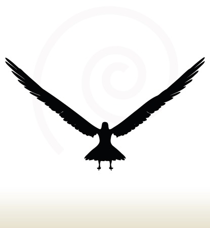 illustration of eagle silhouette isolated on white background Vector