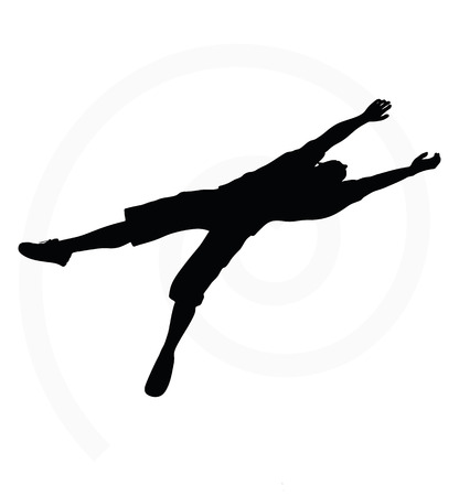 drooping: man silhouette isolated on white background  - in hanging pose