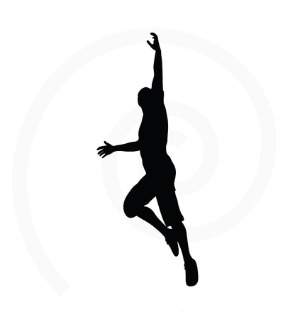 pendent: man silhouette isolated on white background - in hanging pose