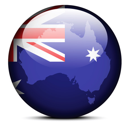 commonwealth: Map on flag button of Commonwealth of Australia