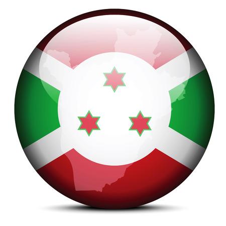 bujumbura: Vector Image - Map on flag button of Republic of Burundi Illustration