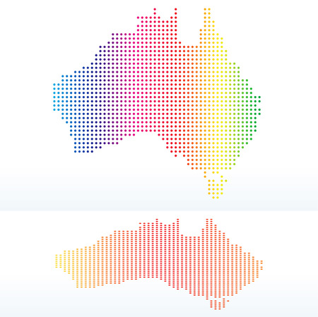 commonwealth: Vector Image - Map of  Commonwealth of Australia with with Dot Pattern