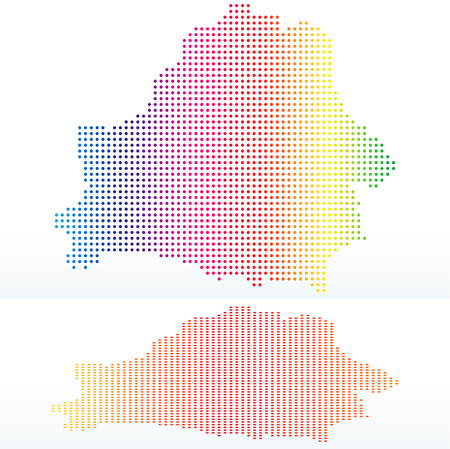 instance: Vector Image -  Map of Republic of Belarus with with Dot Pattern
