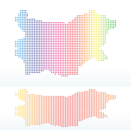 land mark: Vector Image -  Map of Republic of Bulgaria with with Dot Pattern