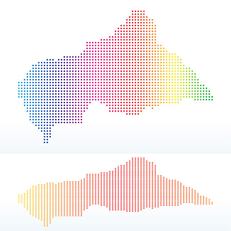 instance: Vector Image -  Map of Central African Republic with with Dot Pattern