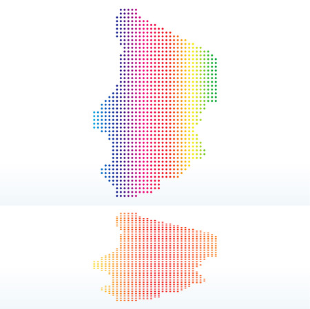 instance: Vector Image -  Map of Republic of Chad with with Dot Pattern