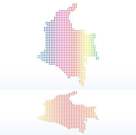republic of colombia: Vector Image -  Map of Republic of Colombia with with Dot Pattern