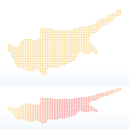 interpret: Vector Image -  Map of Republic of Cyprus with with Dot Pattern