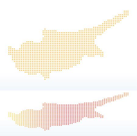 zypresse: Vektor Bild - Liste der Republik Zypern mit mit Punkt-Muster- Illustration