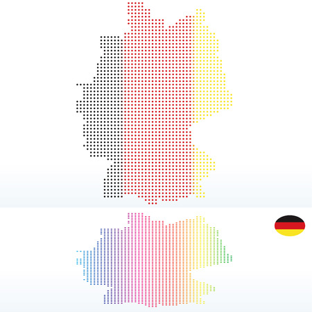federal republic of germany: Vector Image -  Map of Federal Republic of Germany with with Dot Pattern