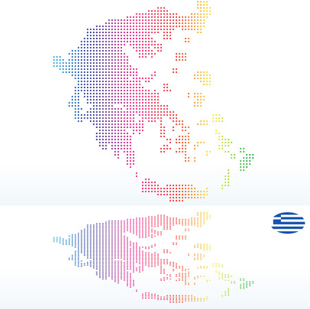 hellenic: Vector Image -  Map of Hellenic Republic, Greece with with Dot Pattern