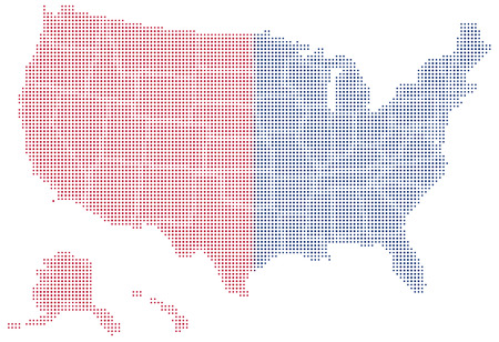 states: Vector Image -  Map of United States of America with with Dot Pattern
