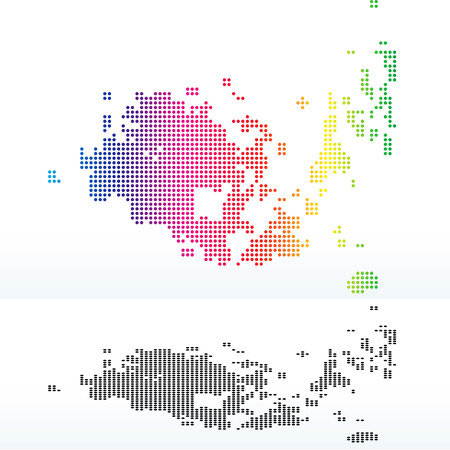 map case: Vector Image - Map of Autonomous State of Aaland with with Dot Pattern