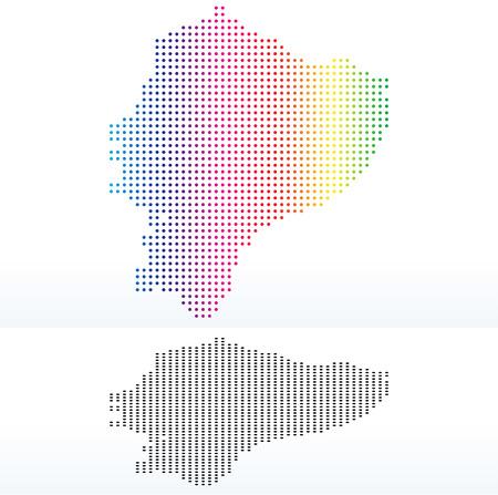 republic of ecuador: Vector Image - Map of Republic of Ecuador with Dot Pattern