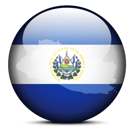 mapa de el salvador: Imagen vectorial - Mapa en el bot�n de la bandera de la Rep�blica de El Salvador