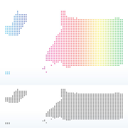 equatorial guinea: Vector Image - Map of Republic of Equatorial Guinea with Dot Pattern Illustration