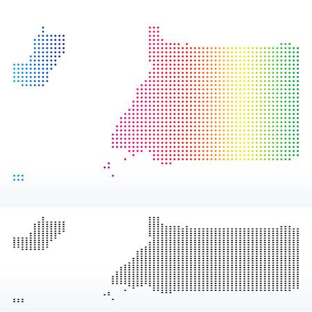 guinea equatoriale: Vettore Immagine - Mappa della Repubblica della Guinea equatoriale con modello di puntino Vettoriali