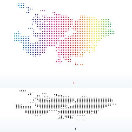 instance: Vector Image - Map of Falkland Islands (Islas Malvinas) with Dot Pattern Illustration