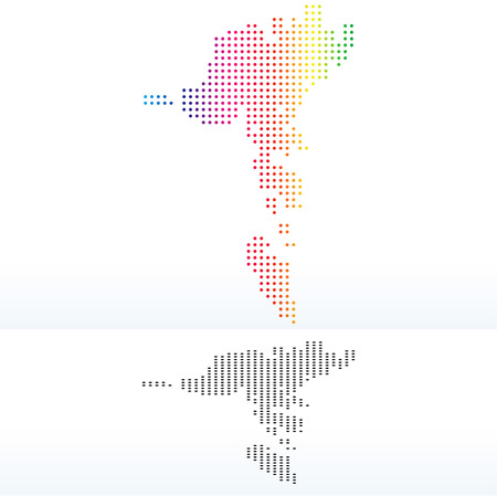 Vector Image - Map of Faroe Islands with Dot Pattern Illustration