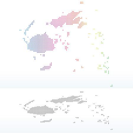 fiji: Vector Afbeelding - Kaart van Republiek Fiji met Dot Pattern Stock Illustratie