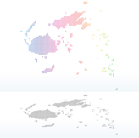 land mark: Vector Image - Map of Republic of Fiji with Dot Pattern