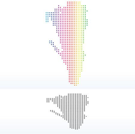 gibraltar: Vector Image - Map of Gibraltar with Dot PatternV Illustration