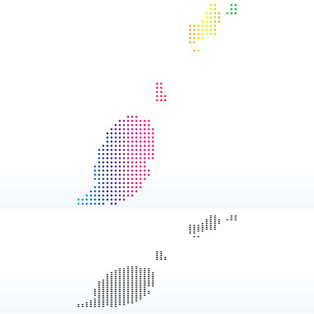 treaty: Vector Image - Map of Grenada with Dot Pattern