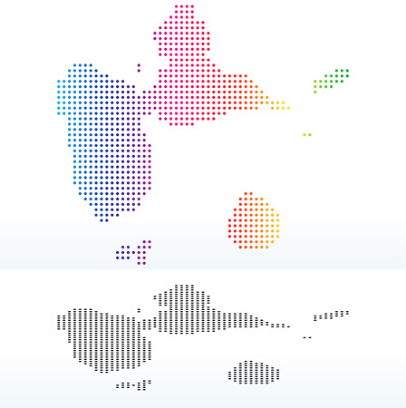 guadeloupe: Vector Image - Map of Guadeloupe with Dot Pattern Illustration